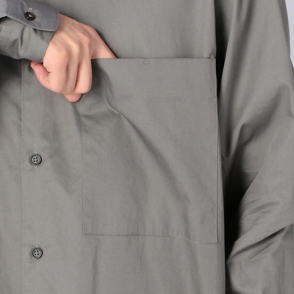 コットンツイル バンドカラーシャツ MEN
