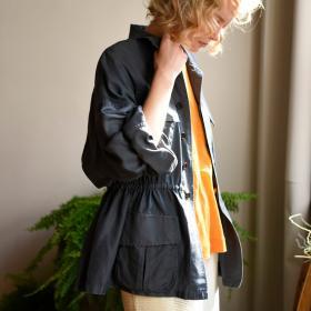 シルクコットンツイル ミリタリージャケット WOMEN
