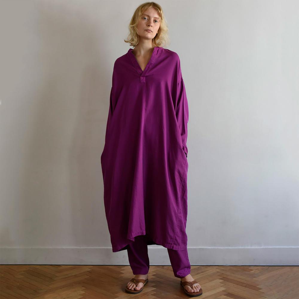 シルクコットンツイル シャツドレス WOMEN