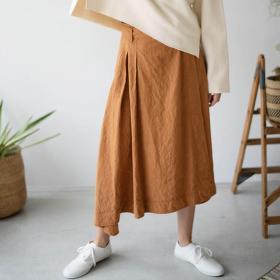 ペーパーリネン ラップスカート WOMEN