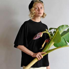 フレンチリネンジャージー フレアTシャツ WOMEN