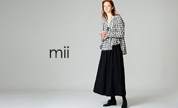 【mii】個性的なテキスタイルが目を惹く、オリジナリティ溢れるコレクション