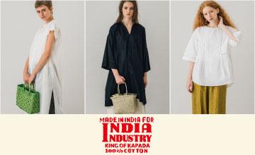 【INDIA INDUSTRY】インド綿のナチュラルな風合いが心地良いシャツ