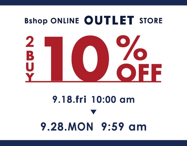 ▽OUTLET 2BUY10%OFF