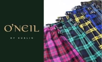 【O'NEIL OF DUBLIN】トラッドなキルトスカートが勢揃い